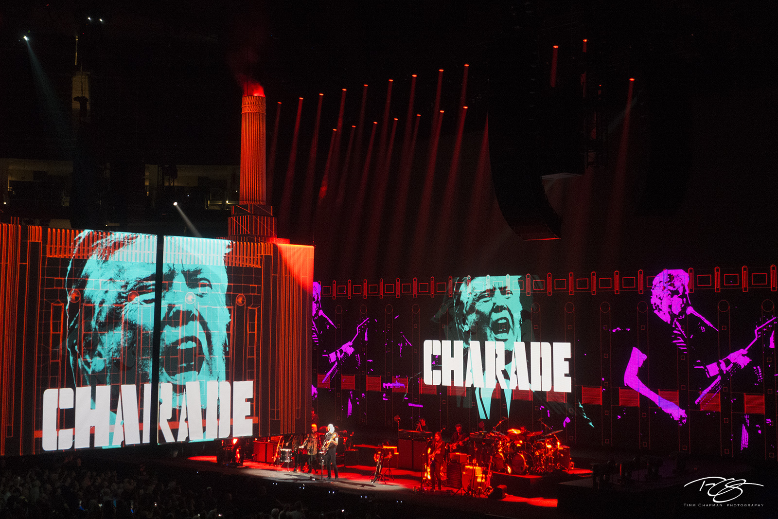 roger waters, pink floyd, in concert, performing, us + them, us and them, pigs, three different ones, president trump, charade, trump, photo