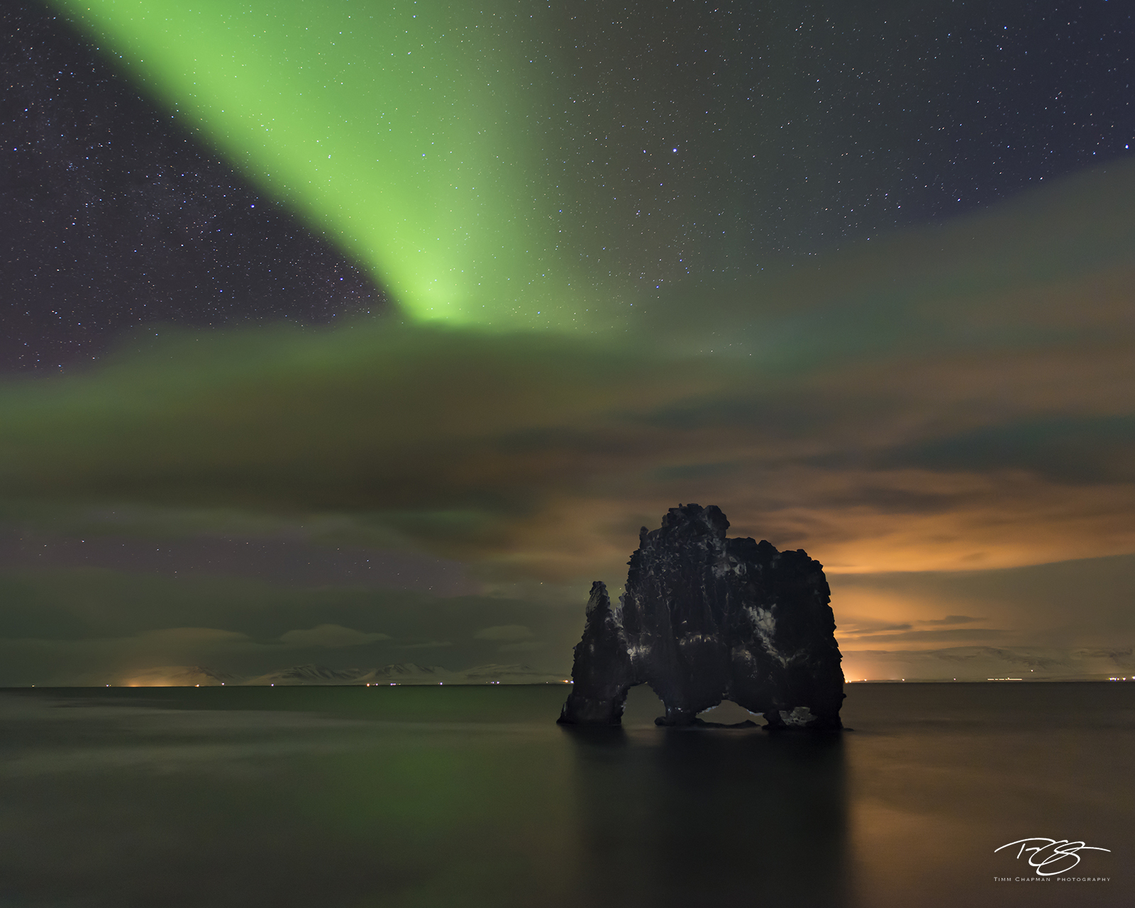 iceland, aurora, borealis, green, red, stars, northern lights, hvitsekur, troll, north iceland, clouds, orange glow, spirit, coronal mass ejection, solar flare, energy, nordic, arctic, alien