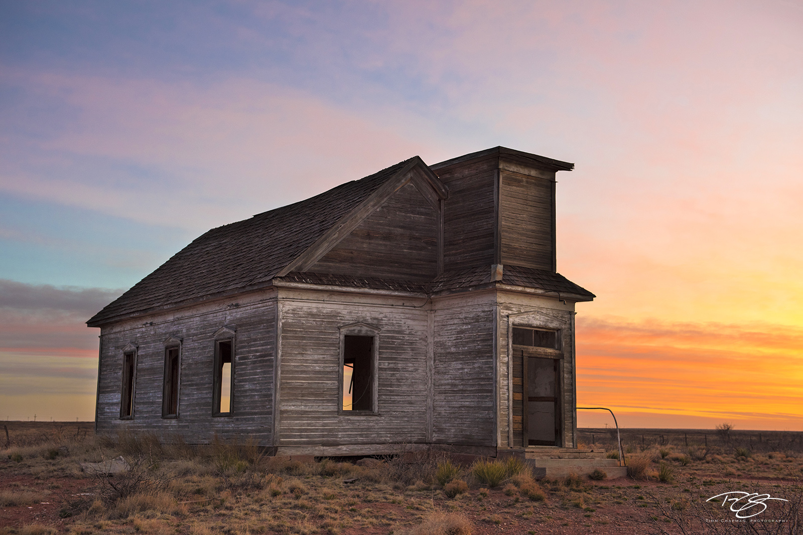 new mexico, gallery, mass, Morning Mass, abandoned, vacant, church, schoolhouse, dawn, early, morning, wooden, vacated, falling down, crumbling, sunrise, sunset, orange, warm, texas, taiban, photo