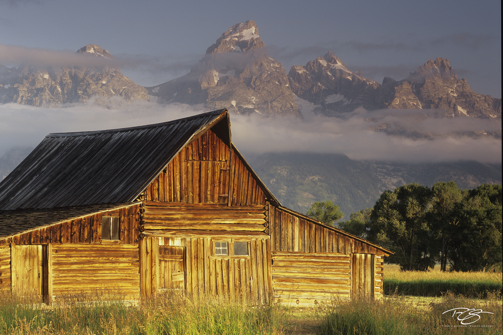Wyoming, Mormon Row, Moulton, Barns, Tetons, Grand Teton, sunrise, moulton barn, barn and tetons, barn, mountains, snow, golden light, meanwhile back at the ranch, photo