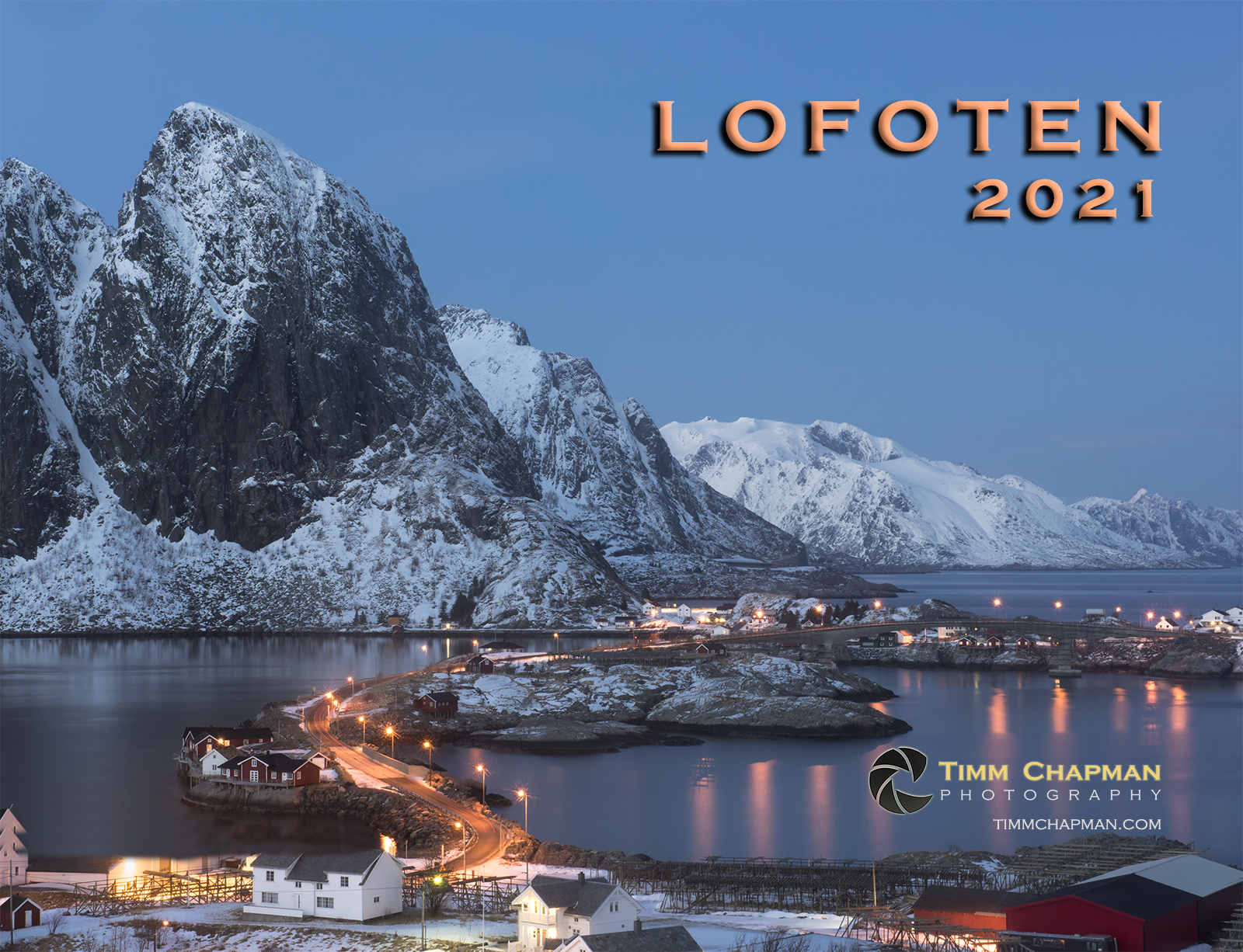 A collection of images from Norway's spectacular Lofoten Archipelago presented in a 12 month calendar for 2021