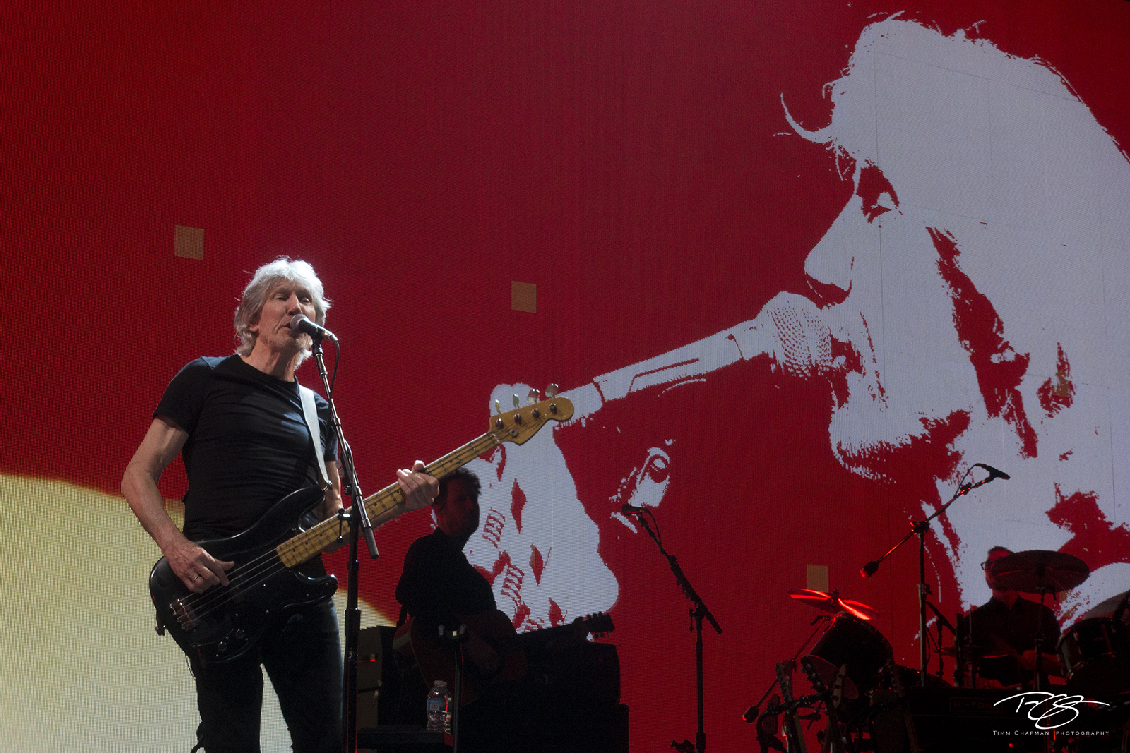 roger waters, pink floyd, in concert, performing, us + them, us and them, bass guitar, dark side of the moon, the wall, photo