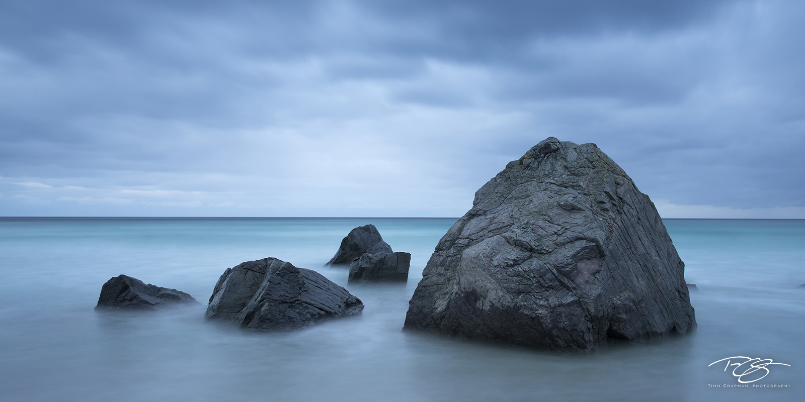 A long exposure calms the normally unruly Norwegian Sea and paints this scene in one of calm, tranquility and peace, while at...