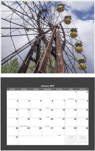Chernobyl 2021 Calendar