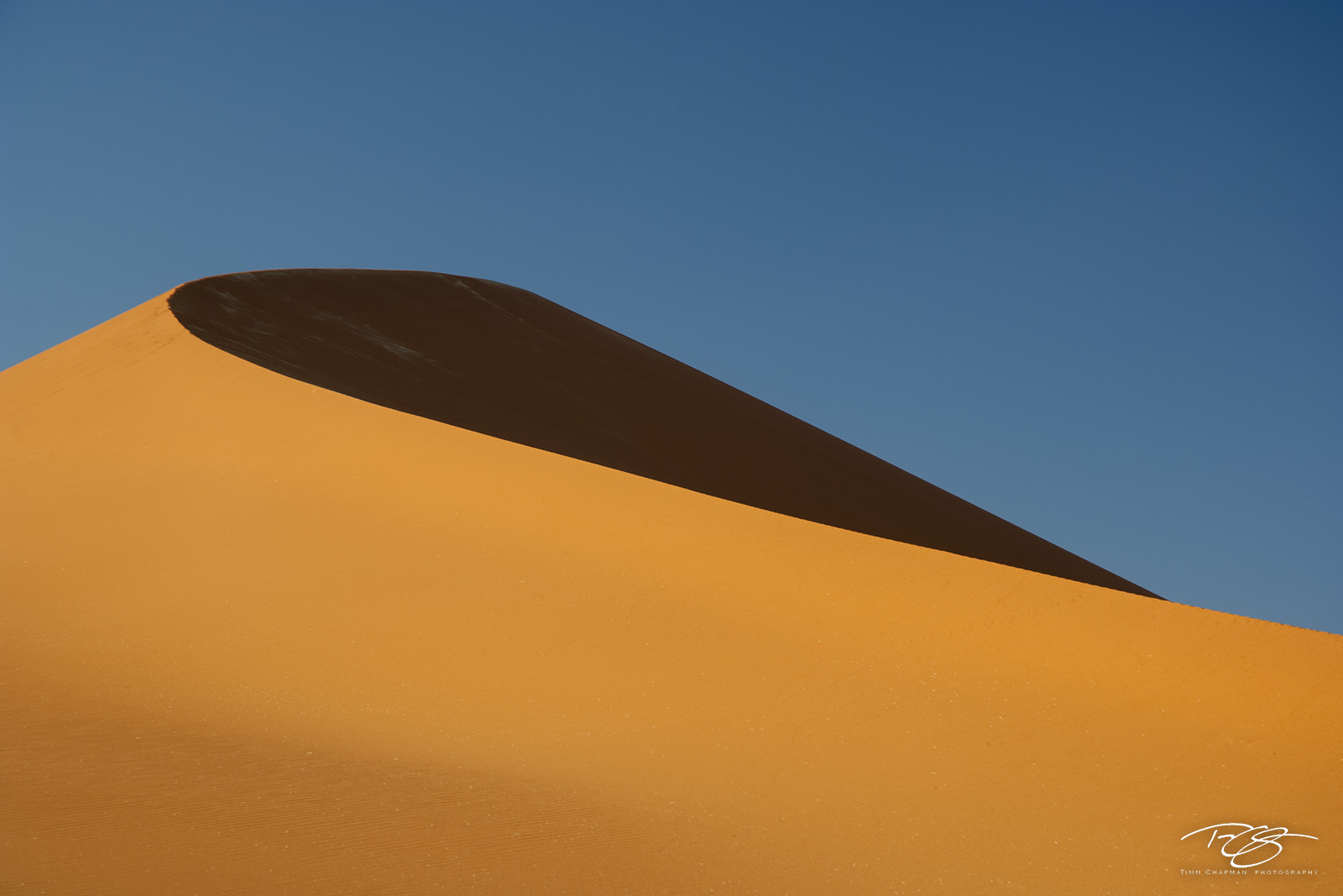 The wind is the artist in Namibia; constantly sculpting the coral sands of the Sossusvlei
