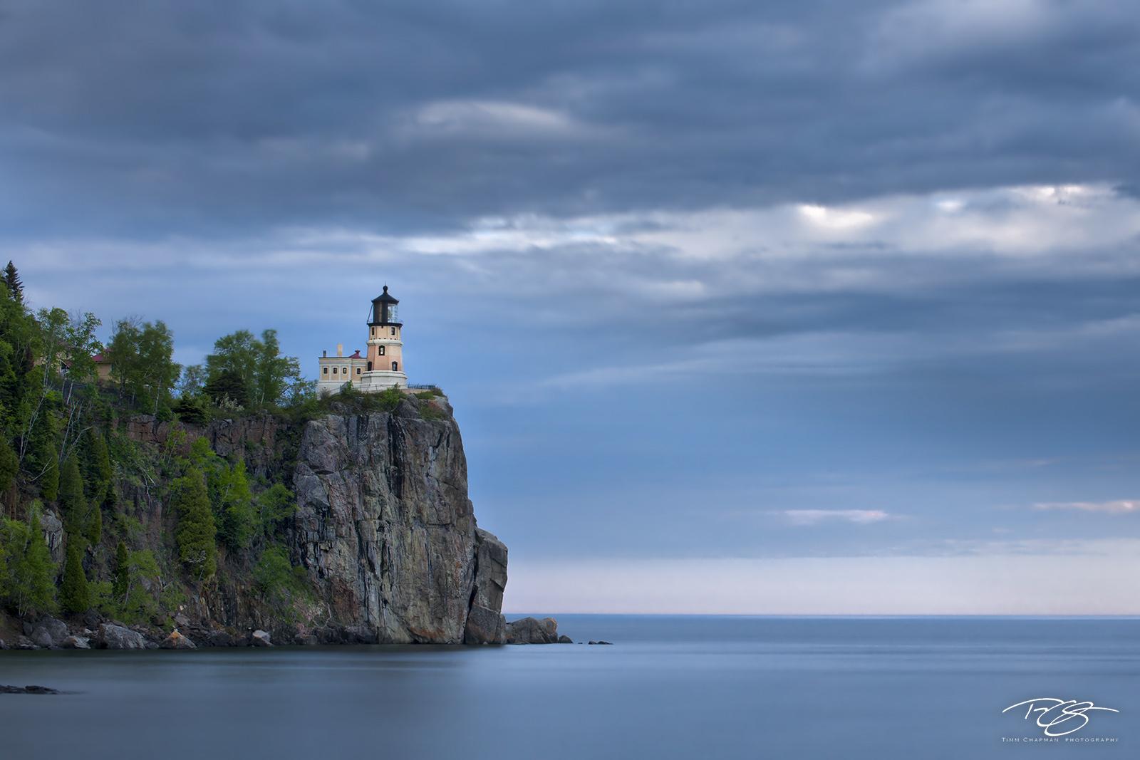 Split Rock lighthouse warns of the rocky coast along Lake Superior's western shoreline