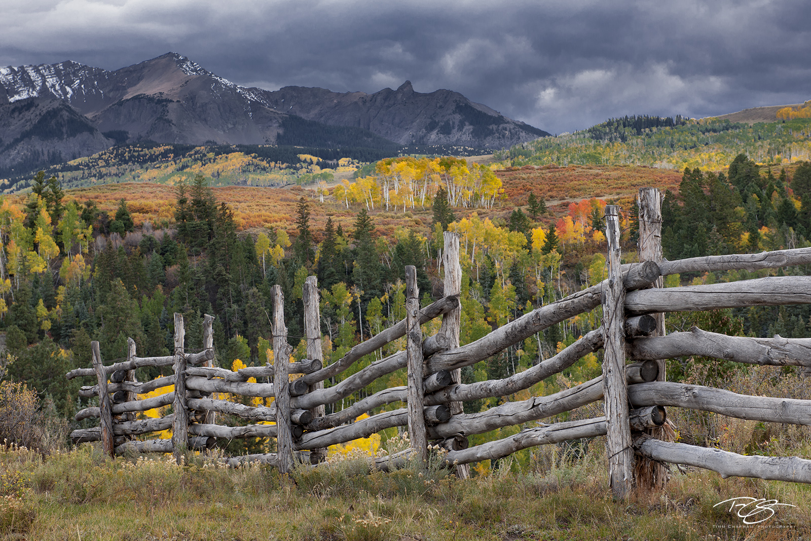 ridgway, telluride, colorado, san juan mountains, dallas divide, autumn color, autumn colour, fall colour, fall colours, tranquil landscapes, spectacular color, million dollar highway, split rail fenc, photo