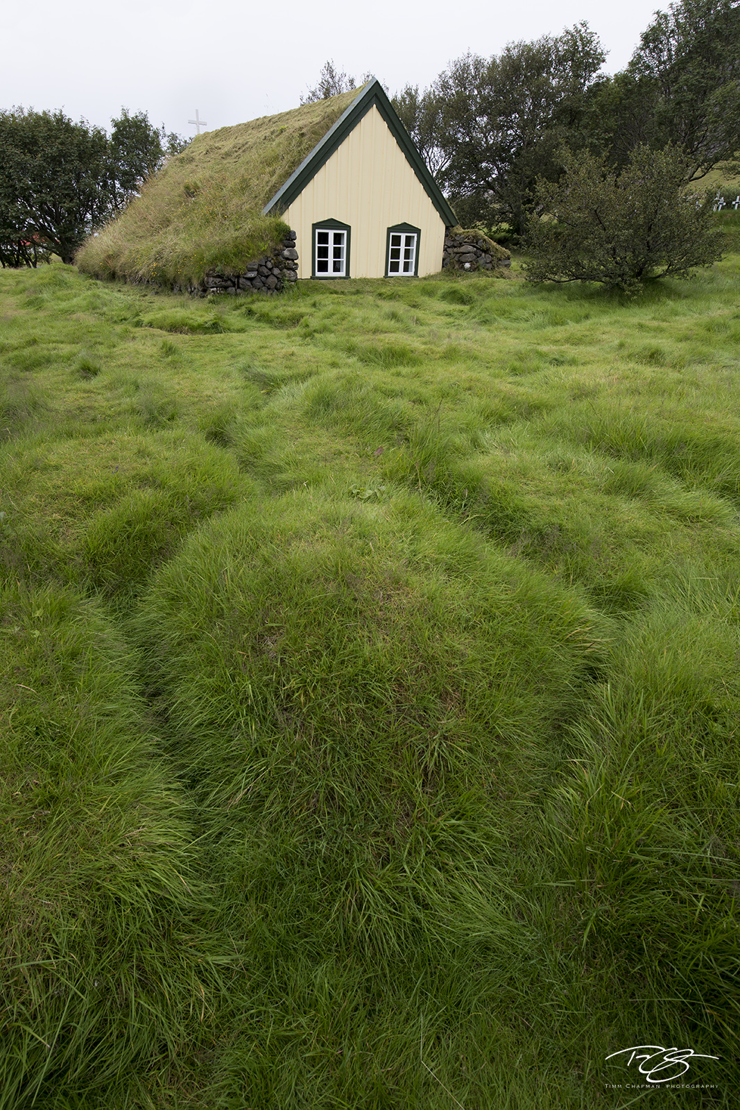 iceland, church, chapel, cathedral, place of worship, turf building, turf house, turf church, hofskirkja, hobbit house, photo