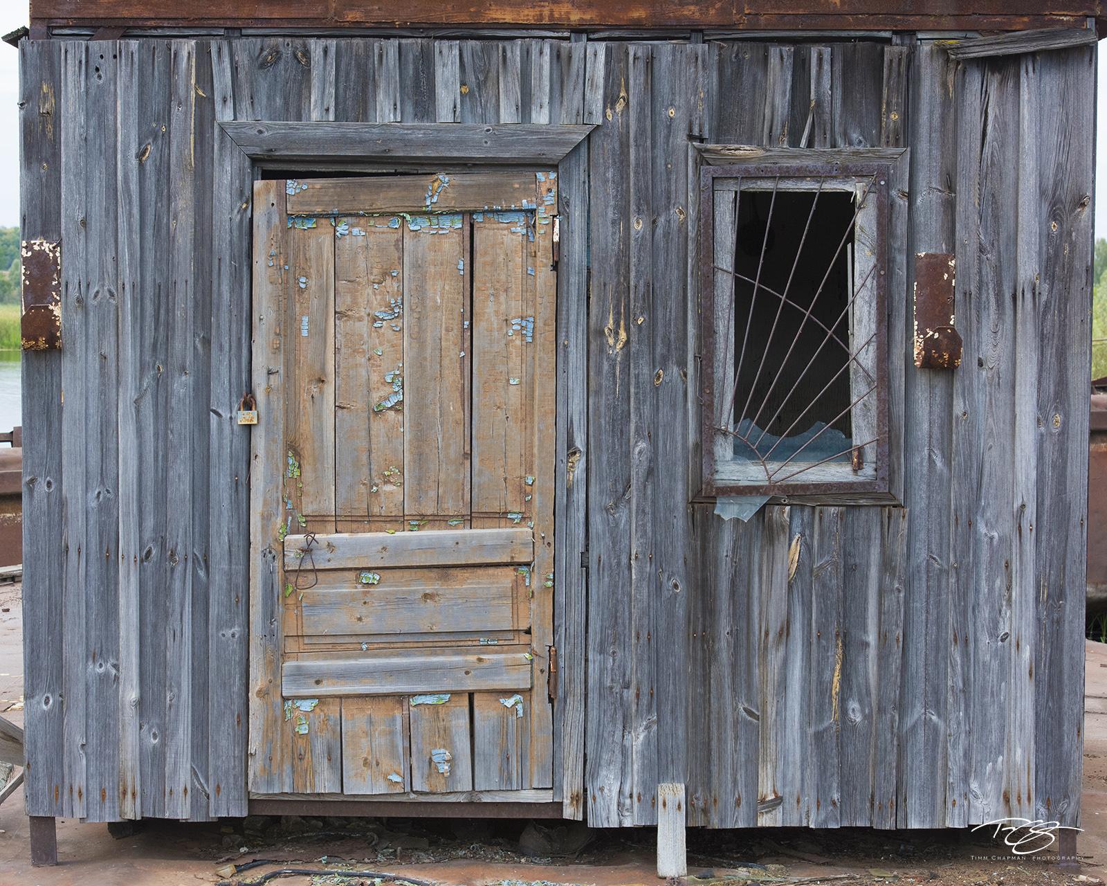 chernobyl, chornobyl, pripyat, exclusion zone, abandoned, forgotten, wasteland, radioactive, decay, peeling paint, wheelhouse, wood, ship, nautical, weatherd, worn, door, window, photo
