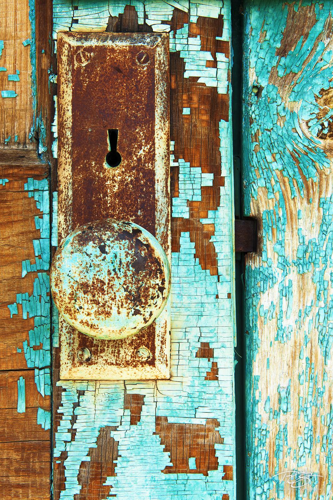 door, doorway, old door, old doorknob, rusty doorknob, flaking paint, rusty door, rusted door, opportunity, antique door lock, life changing decisions, passageway, antique door, weathered paint, weath, photo