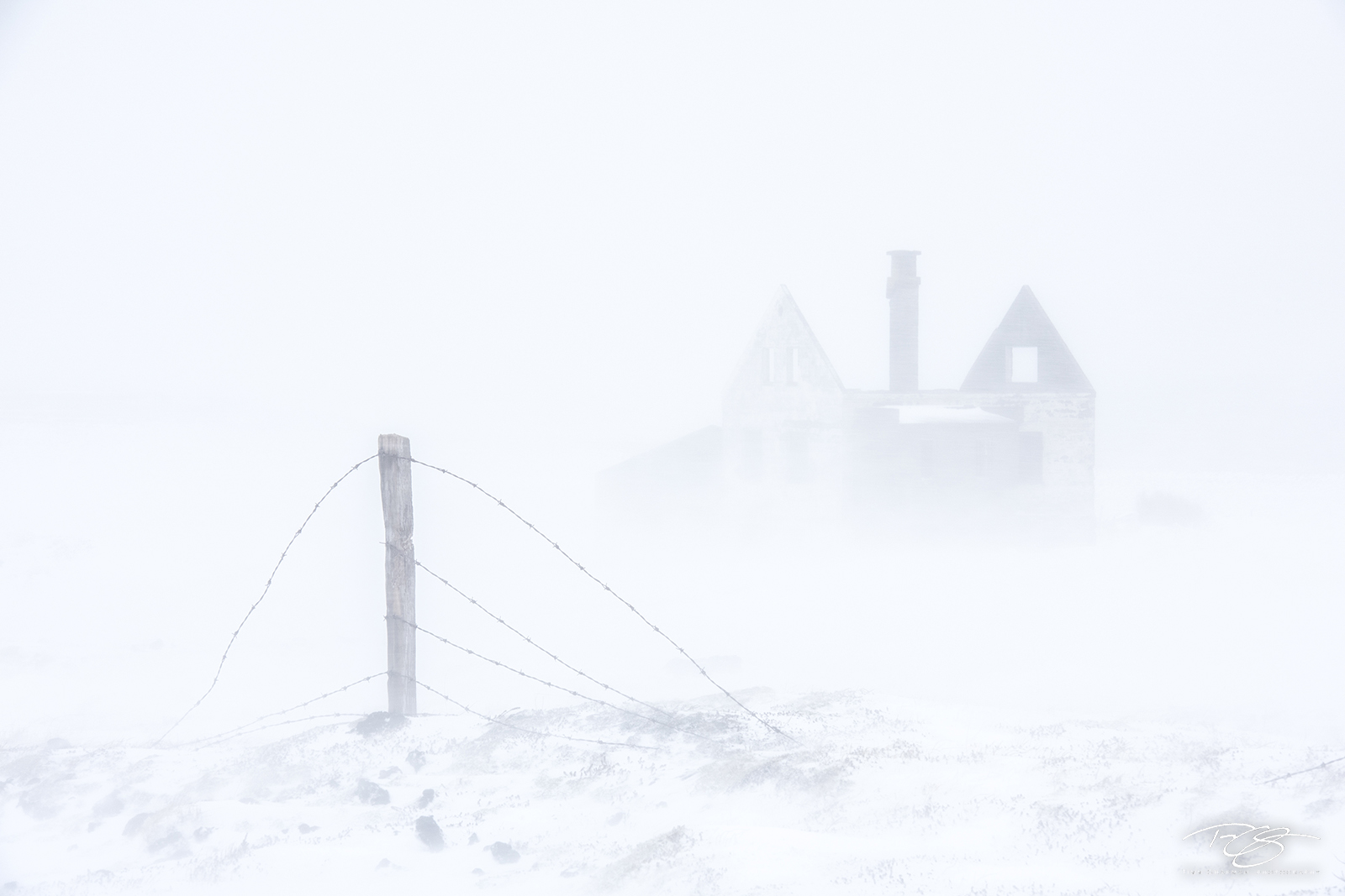 Iceland, Whiteout, abandoned, house, farmhouse, winter, snow, snowy, wind, deserted, ruin, barbed wire, fence, snowstorm, blizzard, arctic, game of thrones, viking, secret life of walter mitty, photo